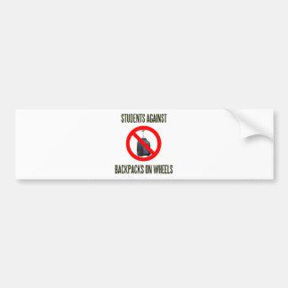 Students Against Backpacks on Wheels Bumper Sticker