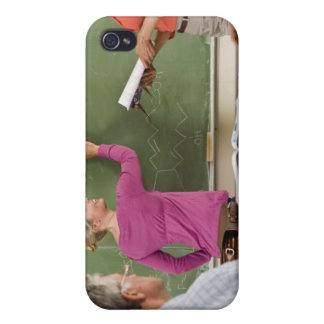 Students and teacher in classroom iPhone 4 case