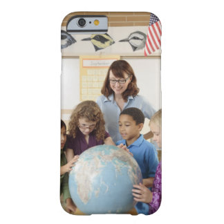 students and teacher with globe barely there iPhone 6 case