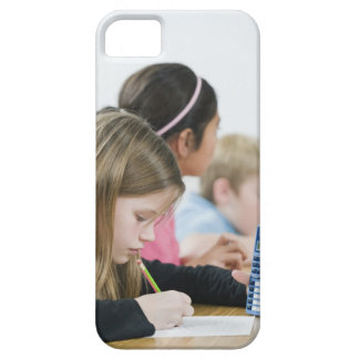 Students doing math work in classroom barely there iPhone 5 case
