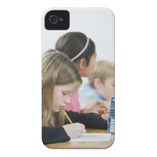 Students doing math work in classroom iPhone 4 cases