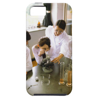 Students in School Chemistry Lab iPhone 5 Cases