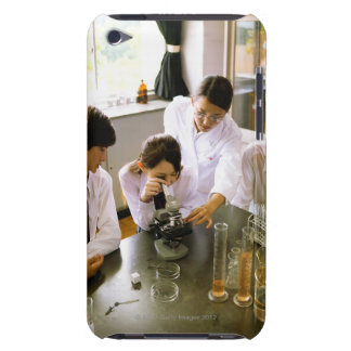 Students in School Chemistry Lab iPod Case-Mate Cases