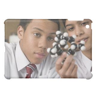 Students looking at molecular model iPad mini covers
