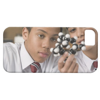 Students looking at molecular model iPhone 5 cases