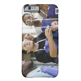 Students performing experiment in chemistry lab barely there iPhone 6 case
