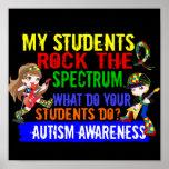 Students Rock The Spectrum Autism Poster