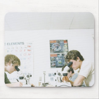 Students with Microscopes Mouse Mat