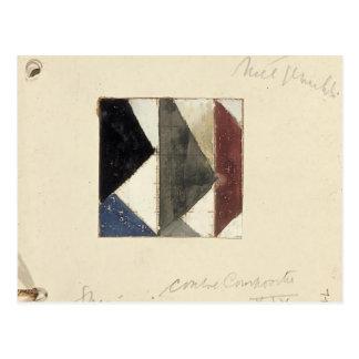 Studie voor Contra compositie XIX by Theo Doesburg Postcard