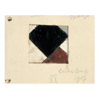 Studie voor Contra compositie XX by Theo Doesburg Postcard