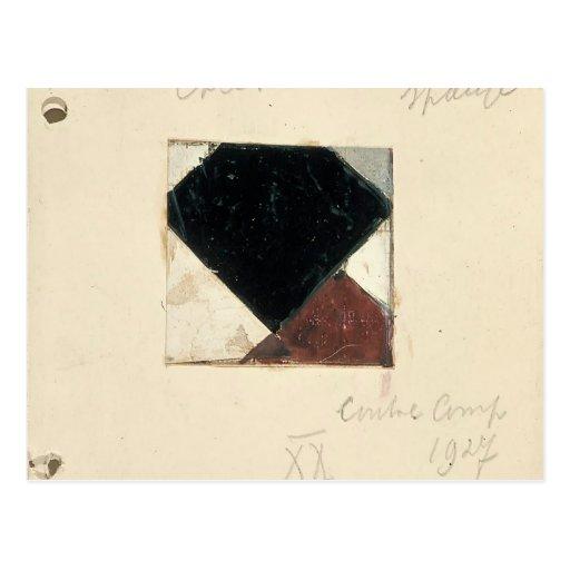 Studie voor Contra compositie XX by Theo Doesburg Postcards