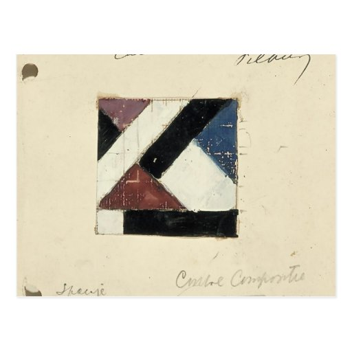 Studie voor Contra compositie XXI by Theo Doesburg Post Card