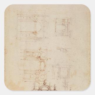 Studies for architectural composition square sticker