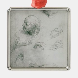 Studies for the Figure of Bramante Christmas Ornament