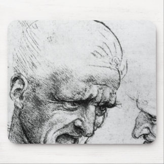 Studies for the heads of two soldiers mouse mat