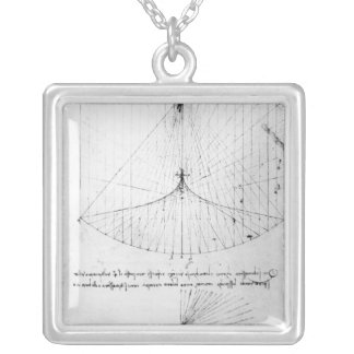 Studies of concave mirrors constant, parabolic silver plated necklace
