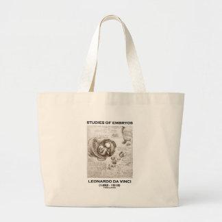 Studies Of Embryos Leonardo da Vinci Canvas Bag