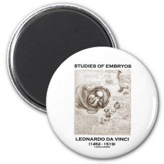 Studies Of Embryos (Leonardo da Vinci) Refrigerator Magnet