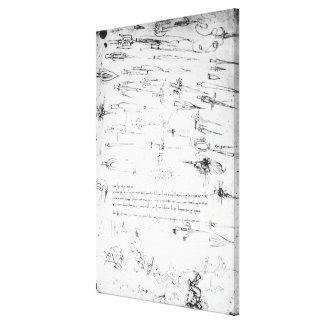 Studies of foot soldiers and horsemen in canvas print