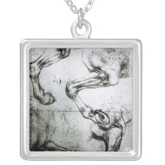 Studies of Horses legs Silver Plated Necklace