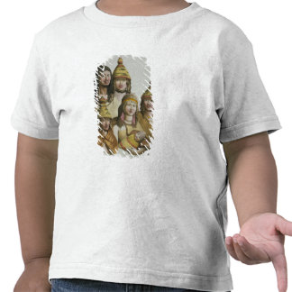 Studies of native Americans (colour litho) T-shirts