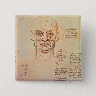 Studies of the Proportions of the Face and Eye, 14 15 Cm Square Badge