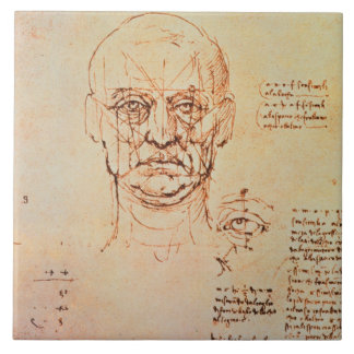 Studies of the Proportions of the Face and Eye, 14 Large Square Tile