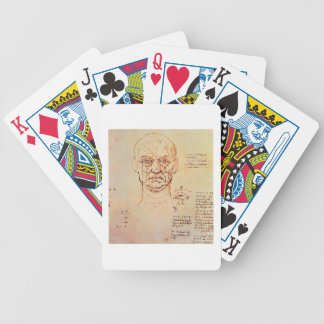 Studies of the Proportions of the Face and Eye, 14 Poker Deck