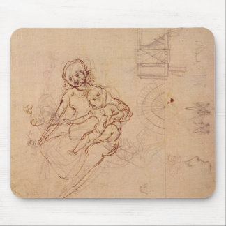 Studies  Virgin and Child Heads Profile Machines Mouse Pad