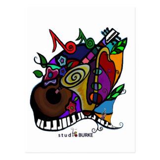 "Studio Burke ""Jazzy"" Postcard"