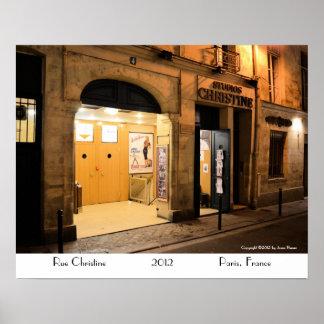 Studio Christine, Paris France Poster