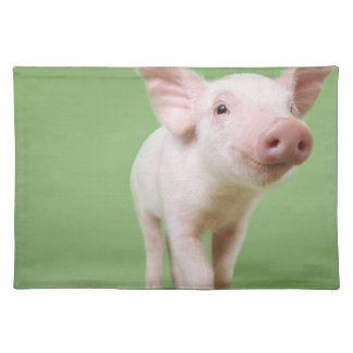 Studio Cut Out of a Piglet Standing Placemat