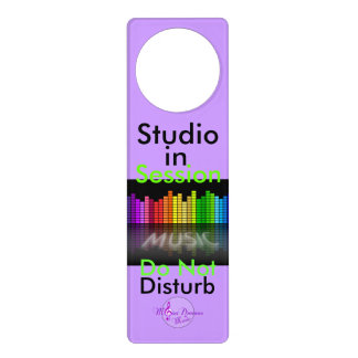 Studio in Session Door Hanger