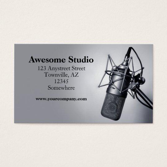 studio microphone business card