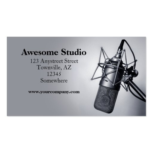 studio microphone pack of standard business cards