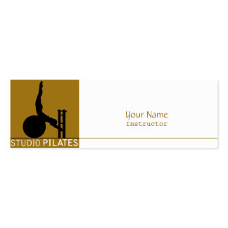 Studio Pilates - Business, Profile Card Pack Of Skinny Business Cards