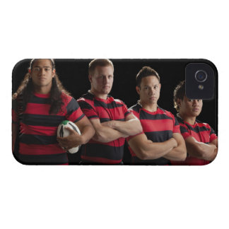 Studio portrait of male rugby team iPhone 4 cover