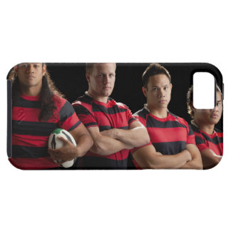 Studio portrait of male rugby team iPhone 5 covers