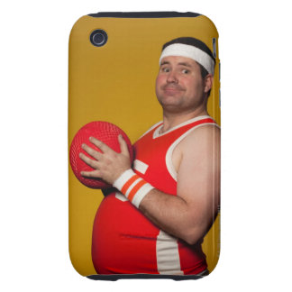 Studio portrait of young man holding playground tough iPhone 3 covers