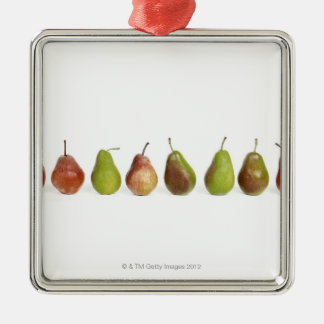 studio shot, close up, healthy eating, in a row, christmas ornaments