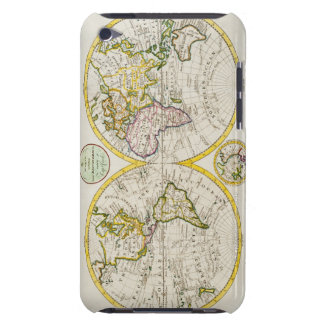 Studio shot of antique world map 2 iPod touch case