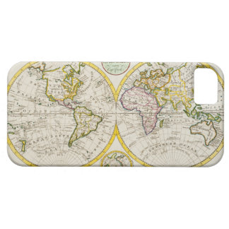 Studio shot of antique world map iPhone 5 cover
