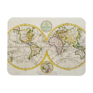 Studio shot of antique world map flexible magnets