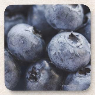 Studio shot of blueberries 3 drink coasters