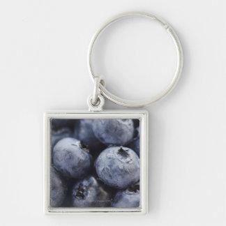 Studio shot of blueberries 3 key chains