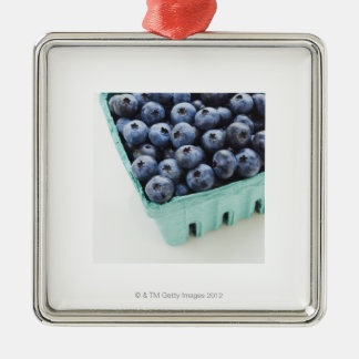 Studio shot of blueberries christmas ornament