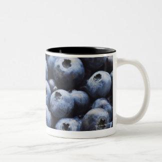 Studio shot of blueberries Two-Tone mug