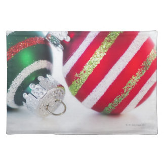 Studio shot of christmas baubles 2 placemat