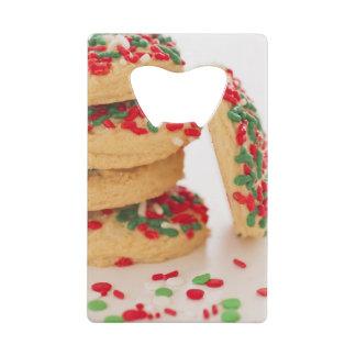 Studio Shot of christmas cookies with sprinkles