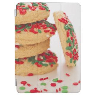 Studio Shot of christmas cookies with sprinkles iPad Air Cover